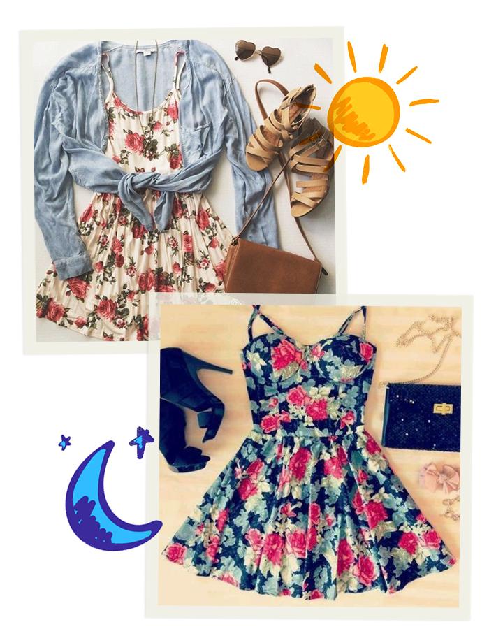 como usar vestidos floridos