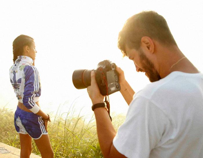 Making of do ensaio fotográfico com clicks do Robinson Barbosa e as modelos Bianca Alves e Marina Streb.