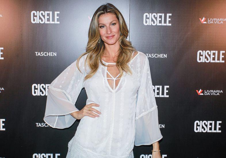 Gisele, na semana passada durante o lançamento do livro que comemora 20 anos de sua carreira