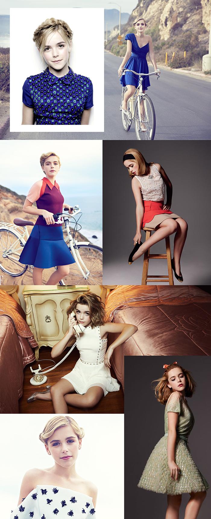 Alguns editoriais de moda da Kiernan