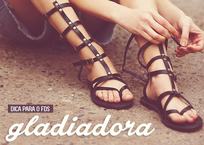 sandália-gladiadora